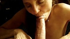 Horny widow sucking me