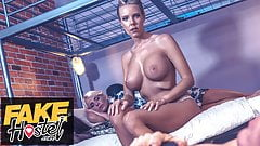 Fake Hostel, Wartime widow's passionate fuck with soldier